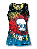 INKnBURN Women's Run or Die Fire Singlet Front