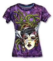 INKnBURN Women's Medusa Tech Shirt Front