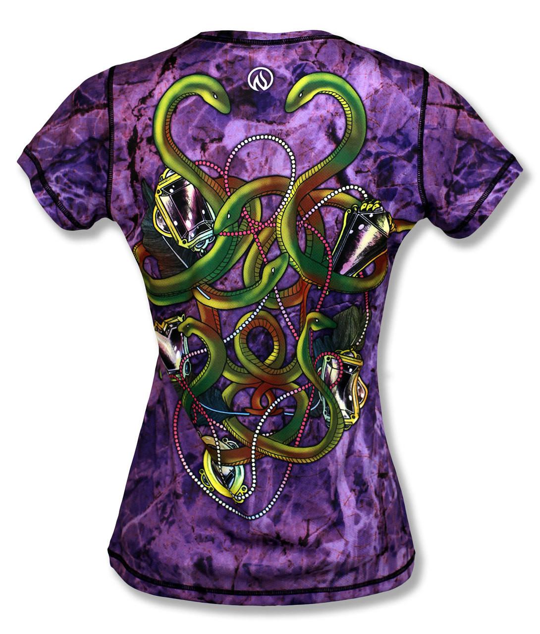 INKnBURN Women's Medusa Tech Shirt Back