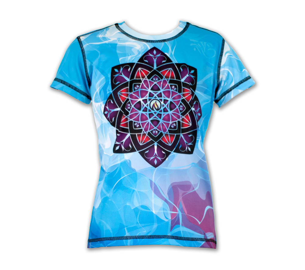 Girl's Healing Mandala Tech Shirt Front
