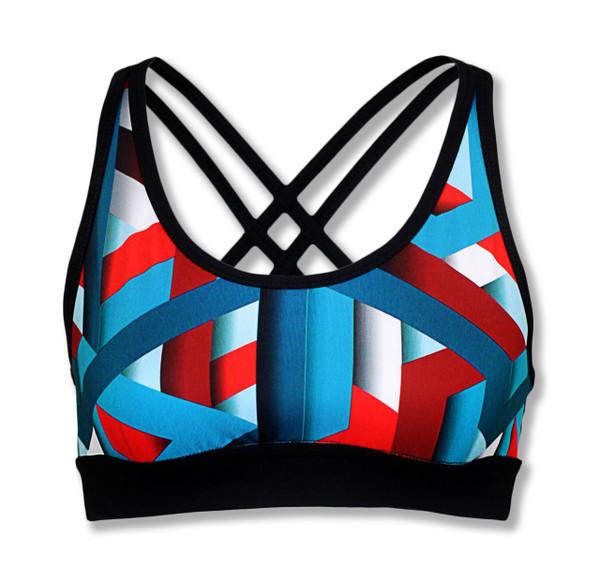 INKnBURN Women's Stripes Sports Bra