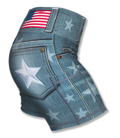 "Women's Star Denim  4"" Shorts"