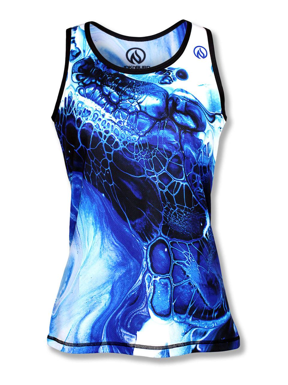 INKnBURN Women's Blue Ink Singlet
