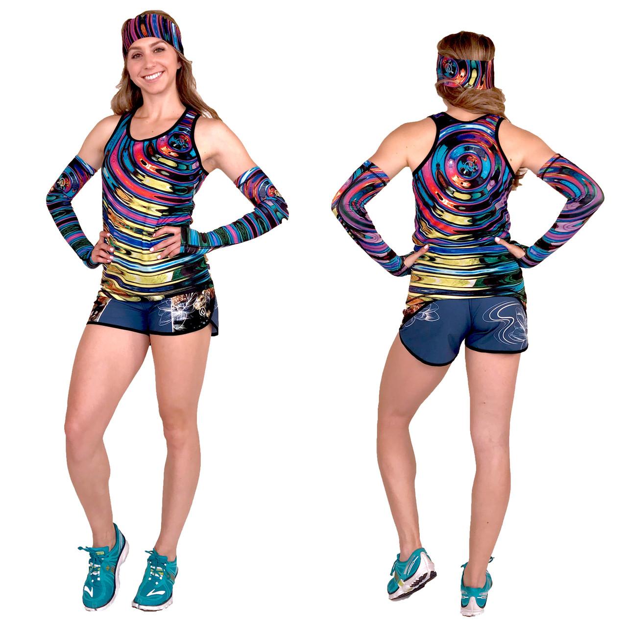 INKnBURN Women's Ripple Singlet and River Shorts