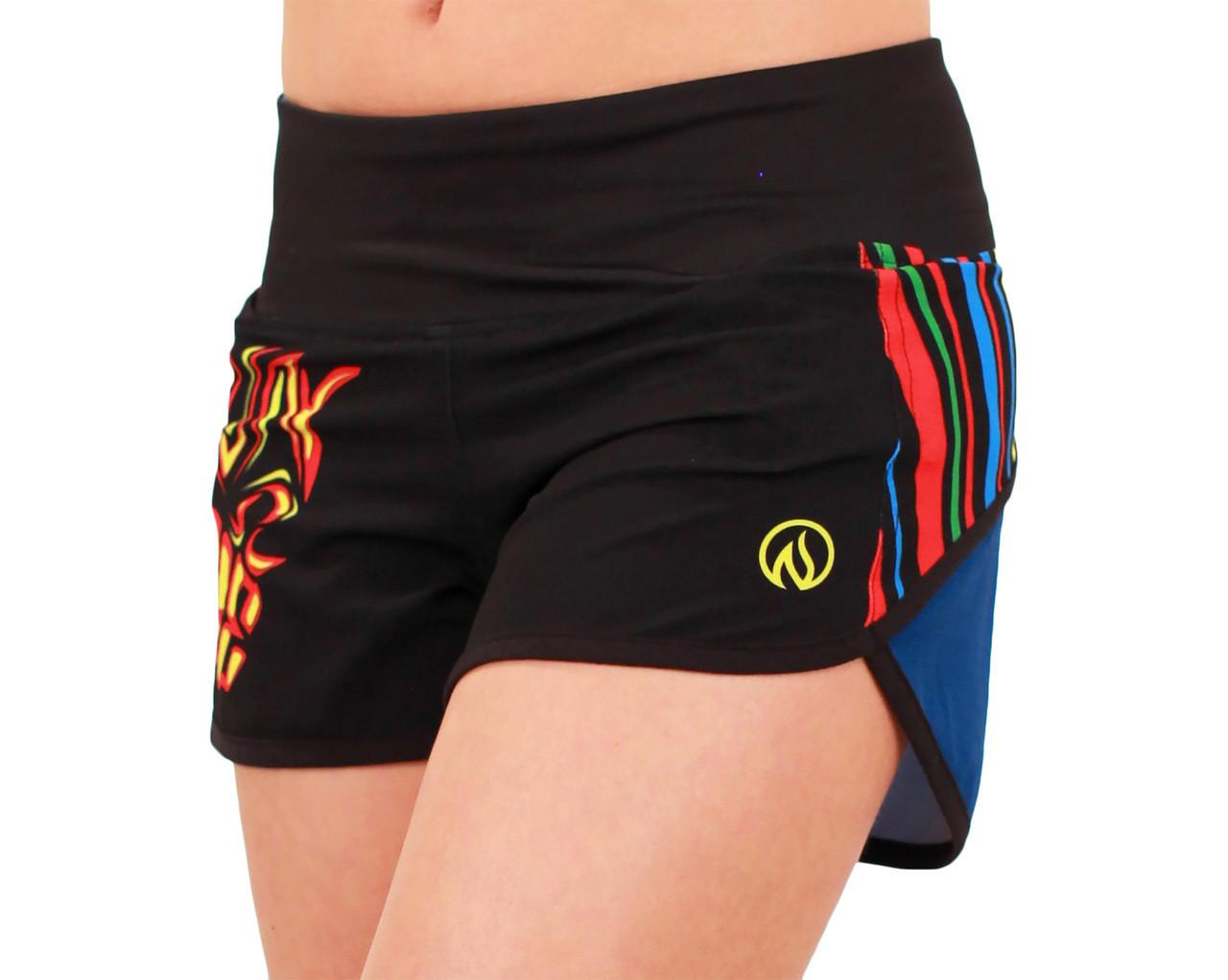 INKnBURN Women's Run or Die Shorts Waistband Up