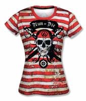 INKnBURN Women's Run or Die Pirate Tech Shirt