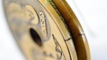 Handmade Wooden Line Spool w/ Furled Line- Zen Fly Fishing