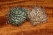 Hareline UV Polar Chenille- Medium & Standard (Left to Right- Dark Grey Olive, Grey Olive)