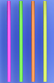 "GIANT STRAW 20"" - NEON - 3/750 (2,250/case)"