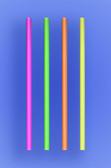 "JUMBO COCKTAIL STRAW 5.5"" - NEON - 30/250 (7,500/case)"