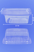 DELI CONTAINER TALL - FLAT CLEAR LIDS INCLUDED - 200/CASE