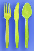 MEDIUM WEIGHT SPOON, FORK, KNIFE - NEON YELLOW - 3/1000 (3,000/case)