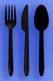 MEDIUM WEIGHT SPOON, FORK, KNIFE - BLACK - 3/1000 (3,000/case)
