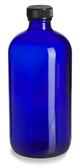 4 oz [120 ml] Cobalt Blue Boston Round Bottles with Cone Caps