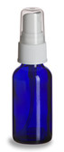 2 oz [60 ml] COBALT BLUE Boston Round Bottle With Plastic Spray Cap