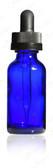 30ml [1 oz ] COBALT BLUE Boston Round Bottle with 20-400 Child Resistant Cap Glass Dropper 7X76mm