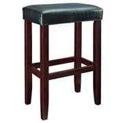 Powell Croc Faux Leather Barstool - Black