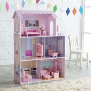 Teamson Design Kids Fancy Mansion Play House with Furniture