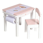 Guidecraft Art Table and Chair Set - Pink
