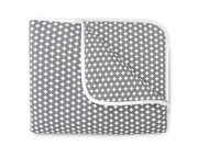 Olli and Lime Cross Crib Quilt - Gray