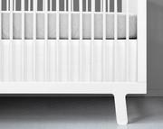 Olli and Lime Crib Skirt - White
