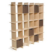 Sprout Kids 25 Cubby Mid Century Bookcase - Raw Baltic Birch