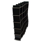 Sprout Kids 25 Cubby Wave Mid Century Bookshelf - Black