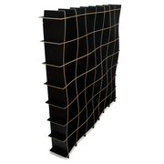 Sprout Kids 49 Cubby Large Wave Bookcase - Black