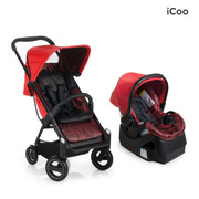 iCoo Acrobat & iGuard Infant Seat - Fishbone Red