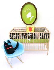 Aunt Bucky Crib Bumper Set Buta Pig