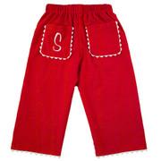 Princess Linens Corduroy Pants - Red/White