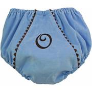 Princess Linens Bon Bon Baby Blue and Chocolate Corduroy Fancy Pant
