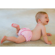 Princess Linens Bon Bon Soft Pink and Hot Pink Corduroy Fancy Pant