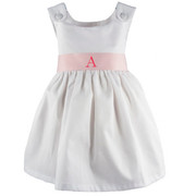 Princess Linens Garden Princess Pique Dress-Light Pink Sash