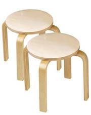 Anatex Wooden Childrens Sitting Stools - Set of 2