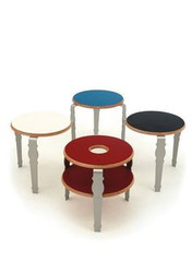 Context Furniture William & Mary Small Round Table with Shelf