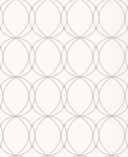 Graham & Brown Darcy Wallpaper - Pearl and Silver