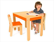 Pkolino Little One's Table and Chair Set - Orange