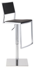 Nuevo Living Aaron Modern Adjustable Black Nauga Color Stool