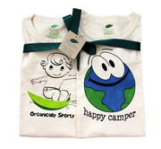 The Green Creation T-Shirt Combo - Originally Sporty and Happy Camper in Natural - Size 18 to 24 Months