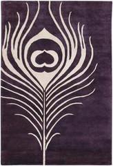 Chandra Rugs Thomas Paul - Tufted Pile Feather Plum-Cream Area Rug