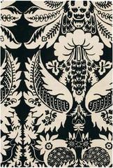 Chandra Rugs Thomas Paul - Tufted Pile Damask Ebony-Cream Area Rug