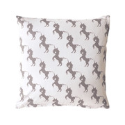 Twinkle Living Unicorn Throw Pillow in White-Grey