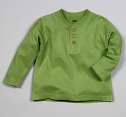 The Green Creation Green Olive Henley