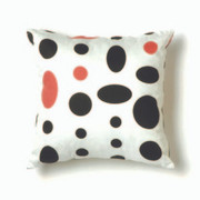Twinkle Living Cosmic Large Throw Pillow in Black-Pink-White