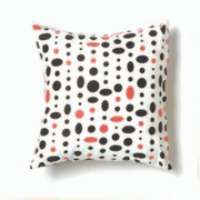 Twinkle Living Cosmic Small Throw Pillow in Black-Pink-White