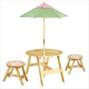 Teamson Design Kids Magic Garden Outdoor Table and 2 Chair Set