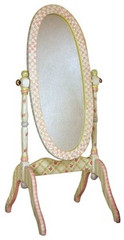 Teamson Design Kids Pink Crackle Girls Standing Mirror