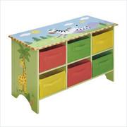Teamson Design Kids Sunny Safari Storage Cubby Base Set
