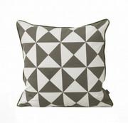 Ferm Living Large Geometry Cushion - Grey